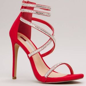 Luxe life strappy jewelled caged heels